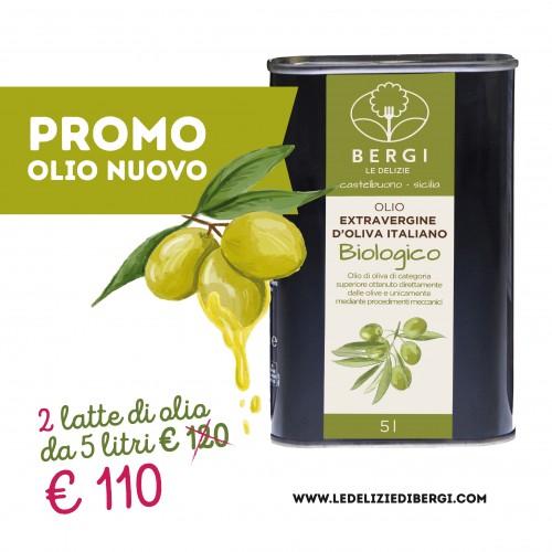 Olio Bio extravergine d'oliva 5 L