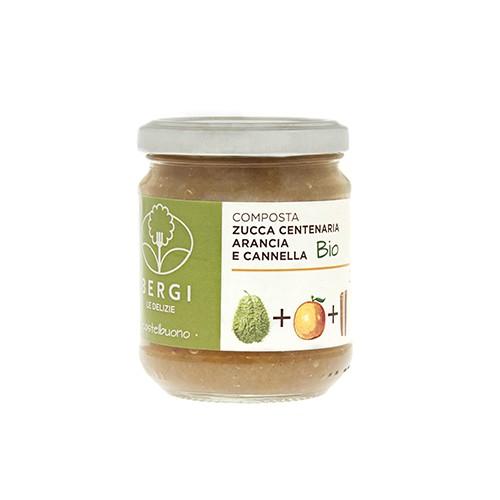 Composta Bio Zucca Centenaria, Arancia e Cannella