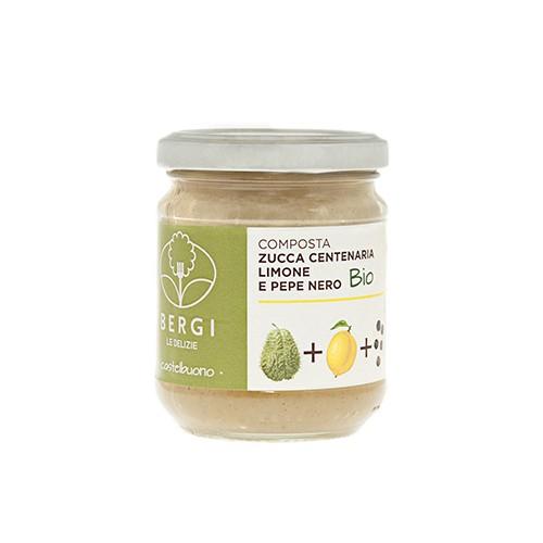Composta Bio Zucca Centenaria, Limoni e Pepe Nero